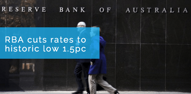 RBA Cuts Cash Rate To Historical Low Of 1.5pc