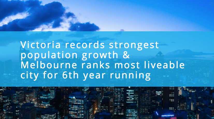 Victoria records strong population growth