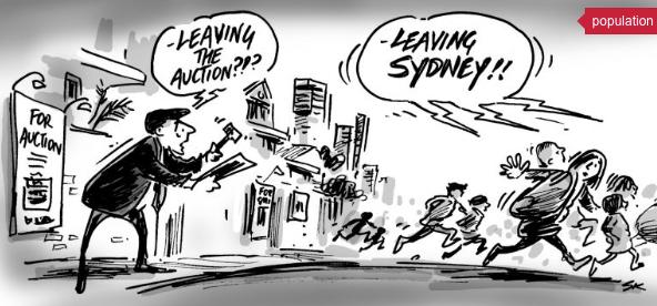 Sydney Population Exodus